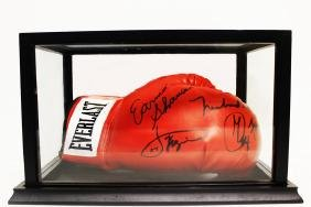 Famous Boxers Autographed Boxing Glove