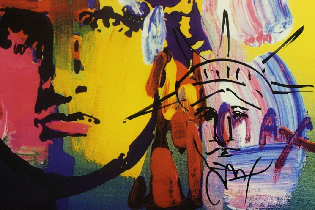 Hand Signed Mixed Media Peter Max - 3