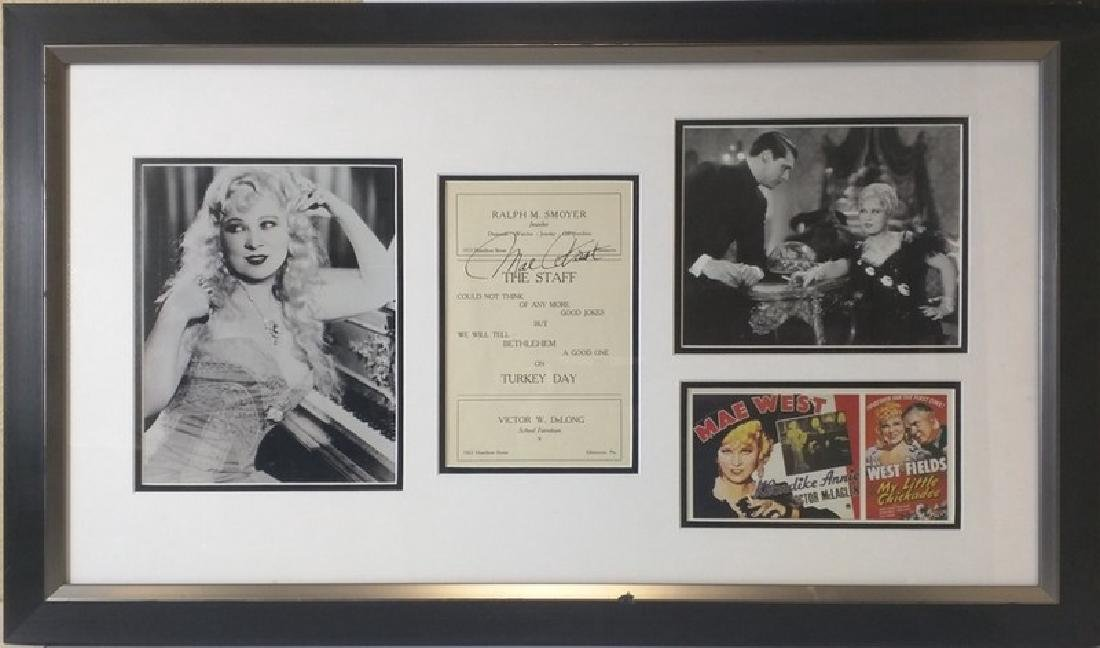 Mae West - Authentic Signed Staff Card