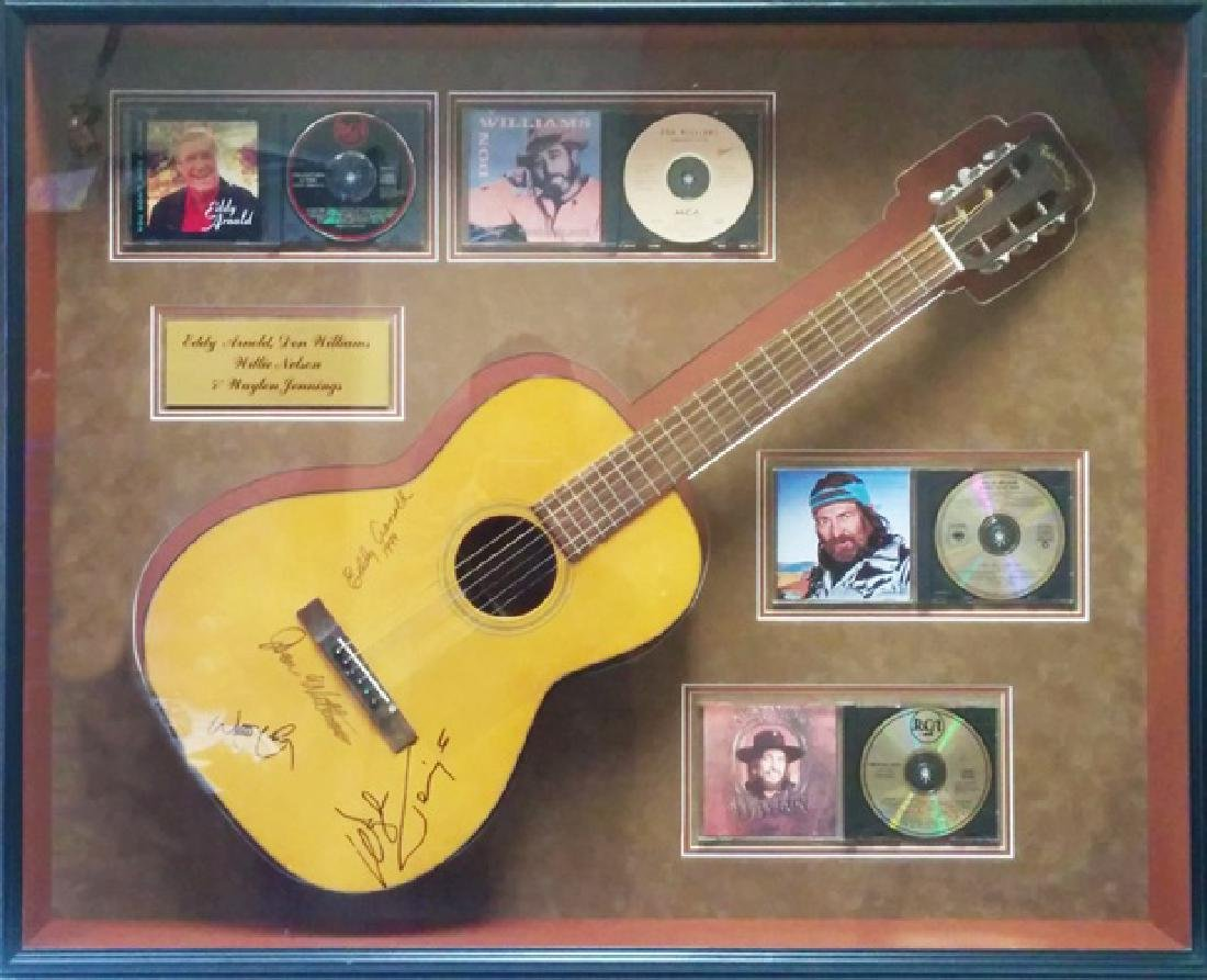 Autographd Acoustic Guitar -WillieNelson