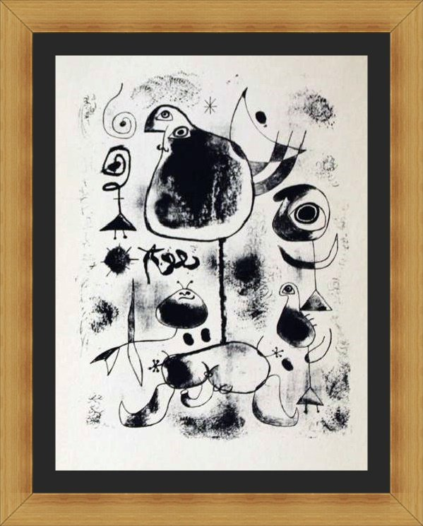 Lithograph by Joan Miro - Lithograph IV 1944
