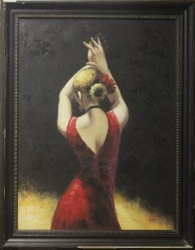 Red Dress Dancer by S Jones