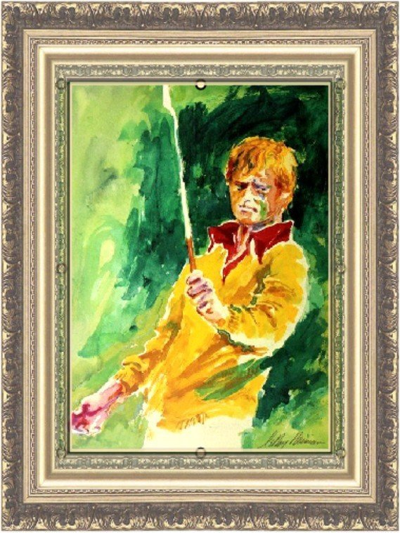Signed LeRoy Neiman Lithograph - Jack Nicklaus