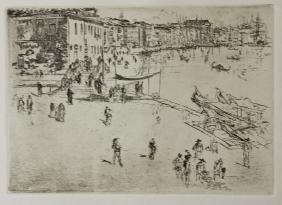 The Riva, - James Abbott Mcneil Whistler