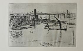 Old Hungerford Bridge - James Whistler
