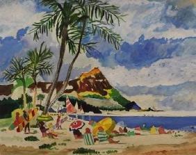 Beach Scene - Original by Kisner