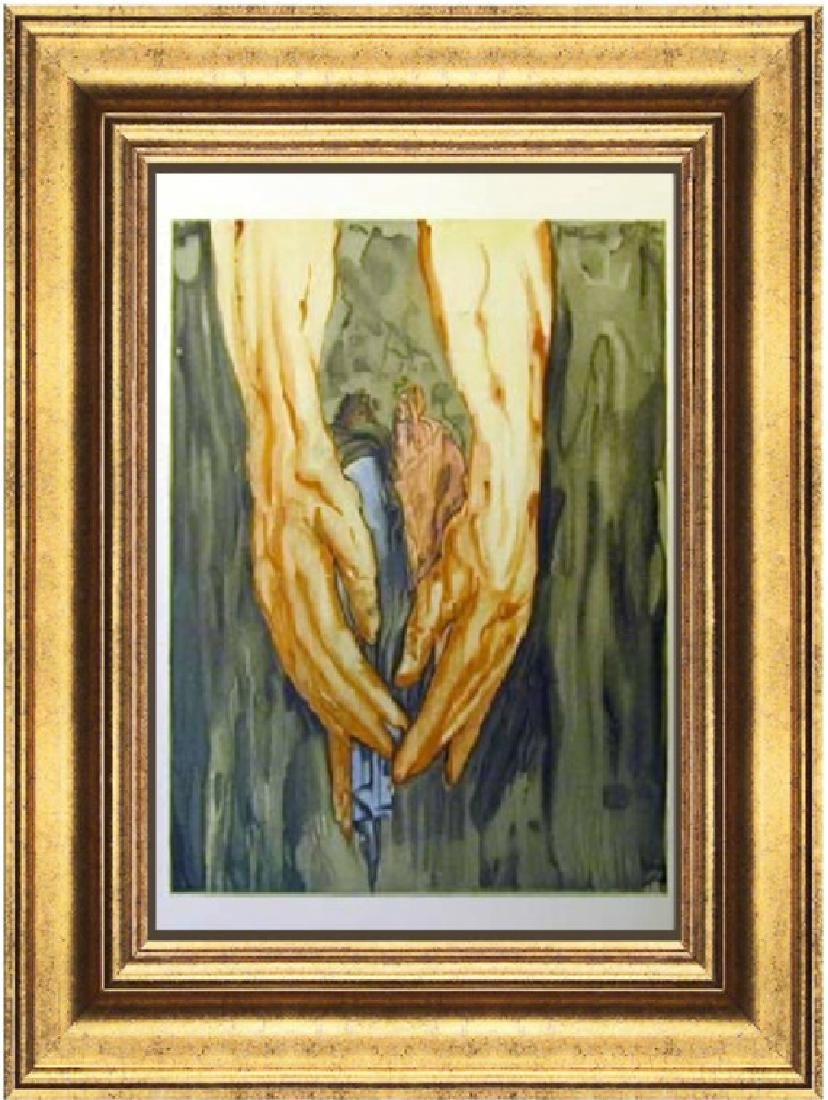 Salvador Dali Woodblock - In the hands of Antaeus
