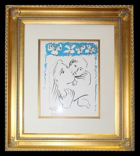 Hand Signed Pablo Picasso Lithograph