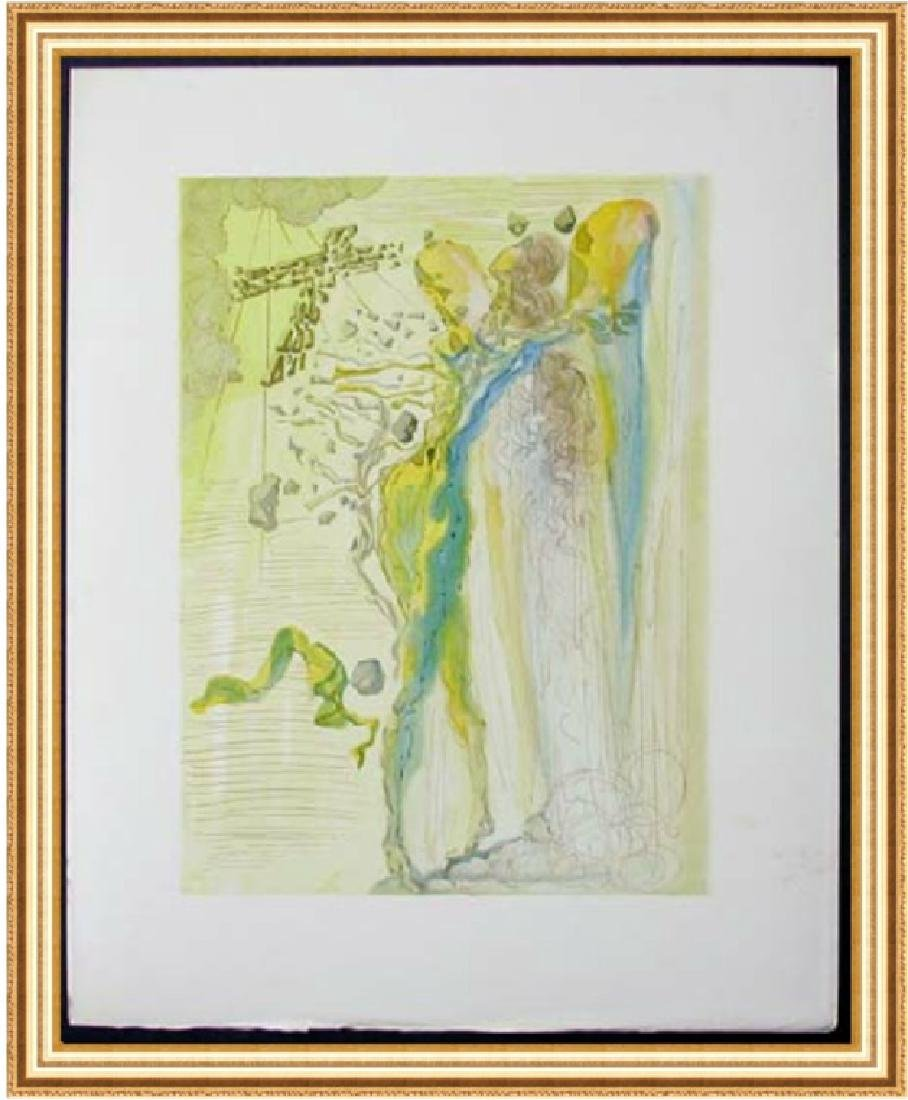 Salvador Dali Woodblock - The Apparition of Dante's