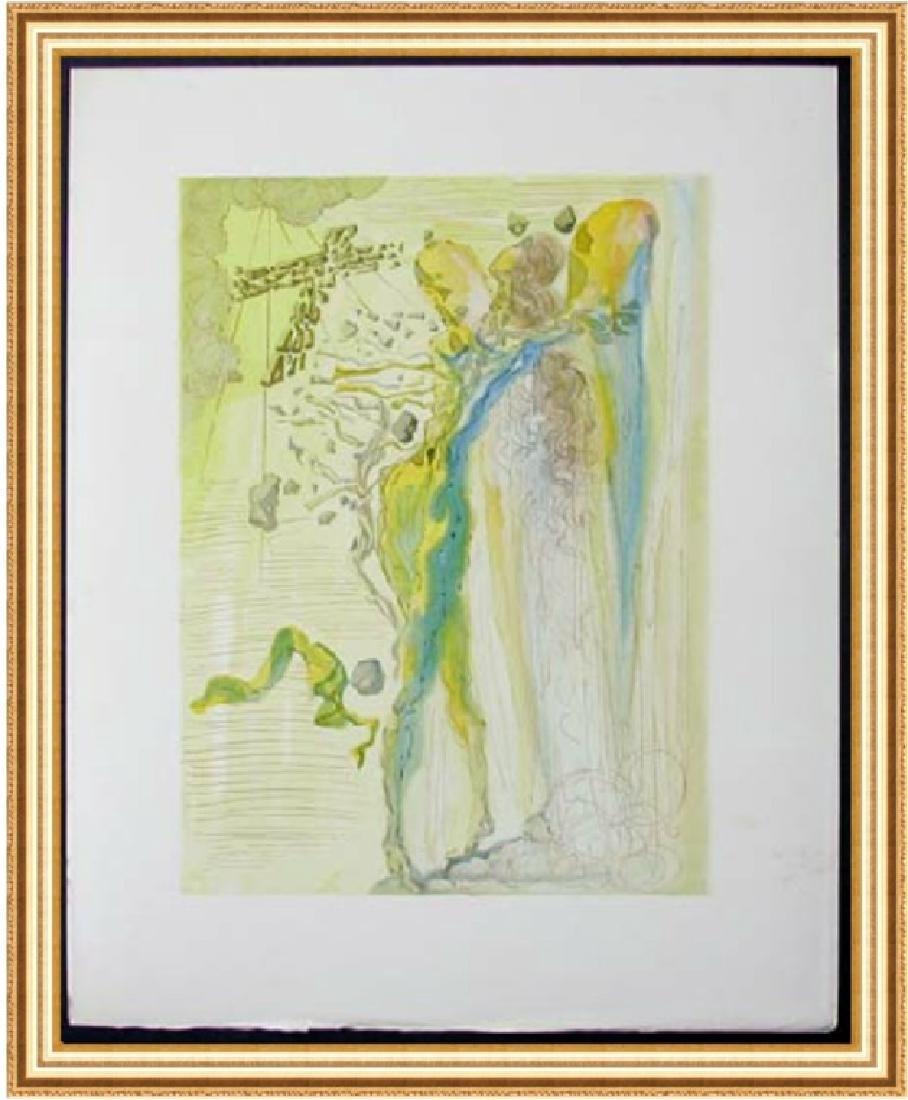 Salvador Dali Woodblock - The Apparition of Dante's