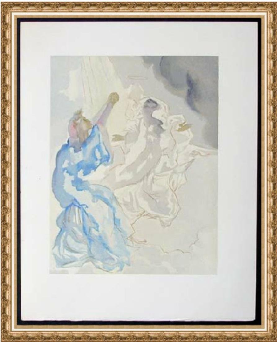 Salvador Dali Woodblock - In the Heaven of Mercury