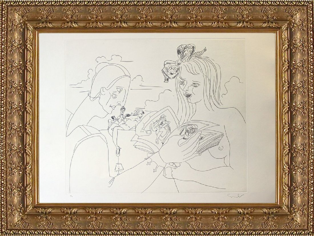 Original Hand Signed Ltd Ed Etching George Condo