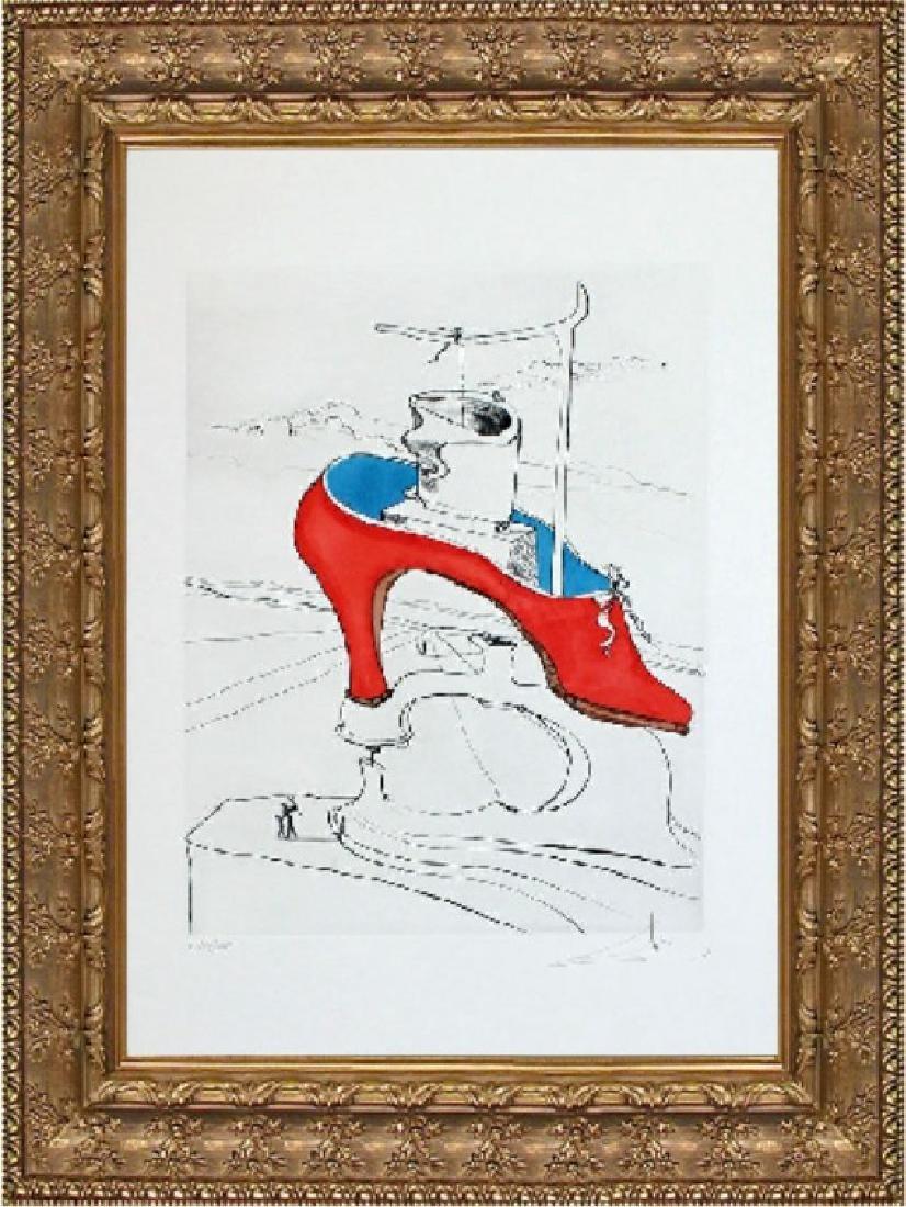 Hand Embellished Signed Ltd Etching Salvador Dali