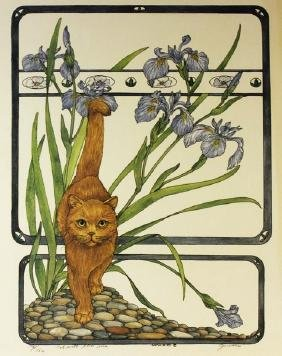 Cat with Blue Iris by Gervaise '83