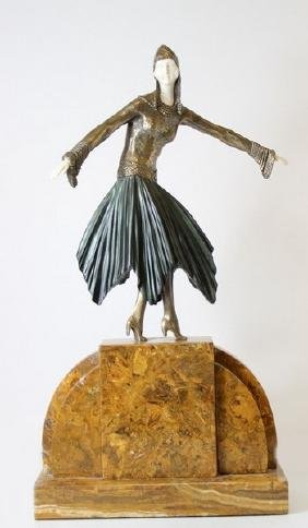 Starlight - Sculpture After D.H. Chiparus