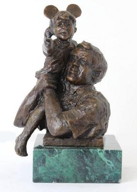High on a Hill - Bronze by Dennis Smith