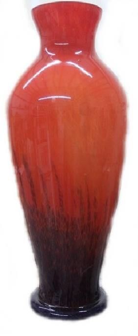 Large Hand Blown Glass Vase