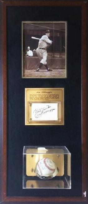 Joe Dimaggio - Signed Memorabilia