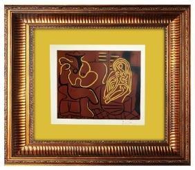 Signed Picasso Linocut Fauteuil et Guitariste