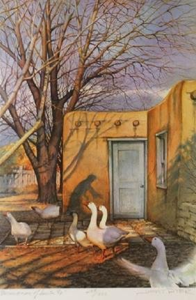 Goose Woman of Sante Fe by Jimmy Dyer