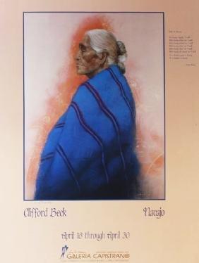 Navajo - Clifford Beck - Exhibition Poster