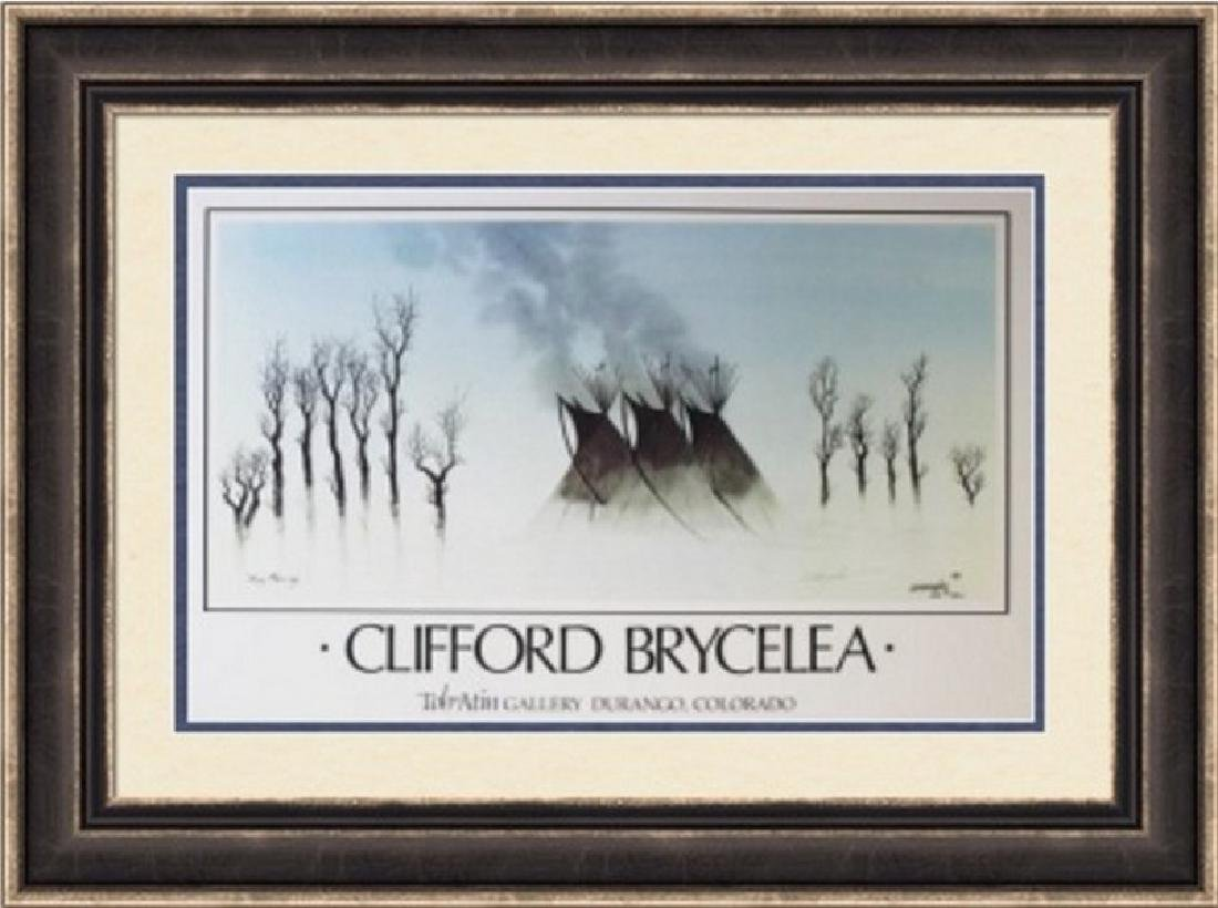 Double Signed Cliffton Brycelea - Misty Morning 1983