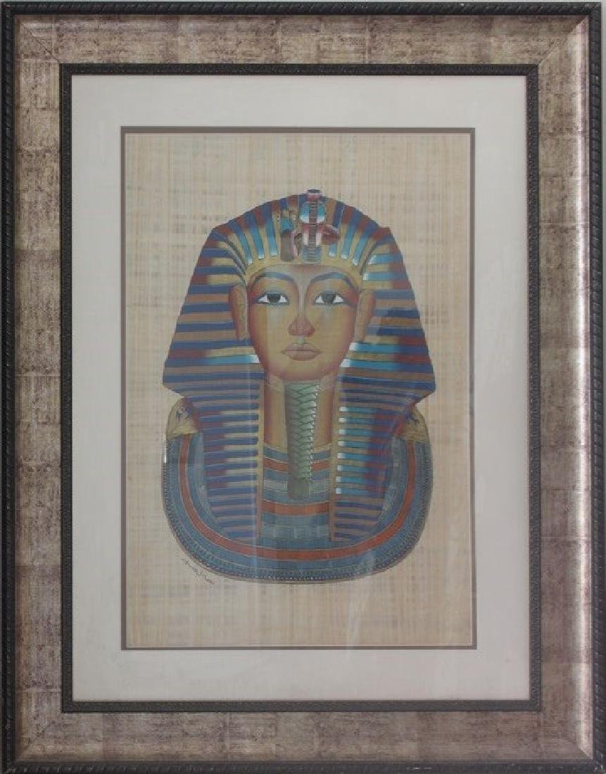 Papyrus - King tut - Framed Artx49x39