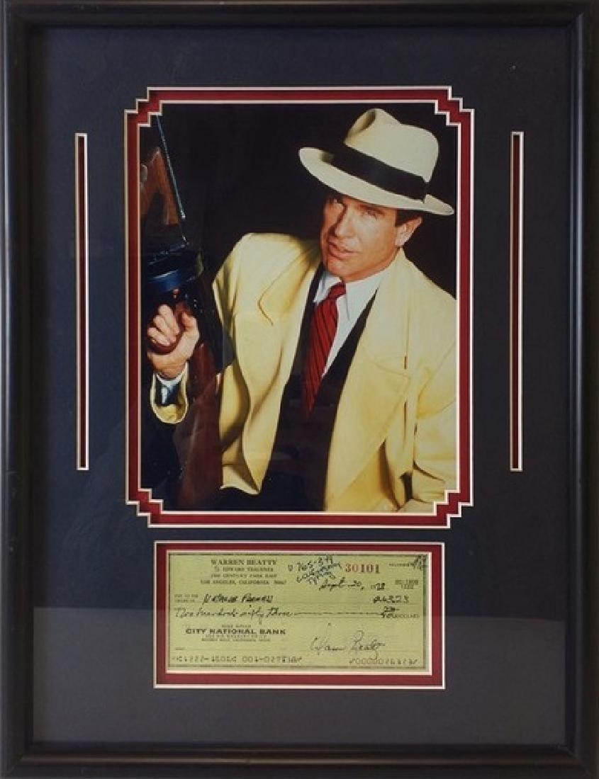 Warren Beatty Memorabilia w/ Check - 2