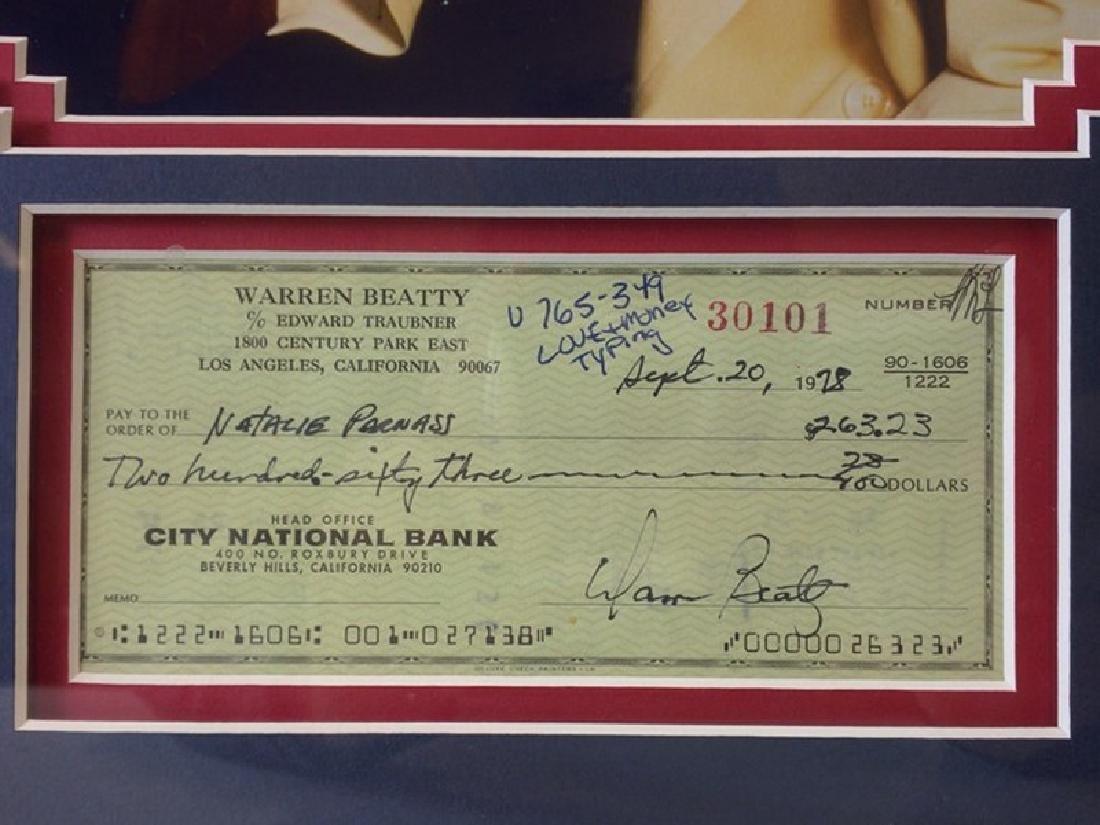 Warren Beatty Memorabilia w/ Check - 3