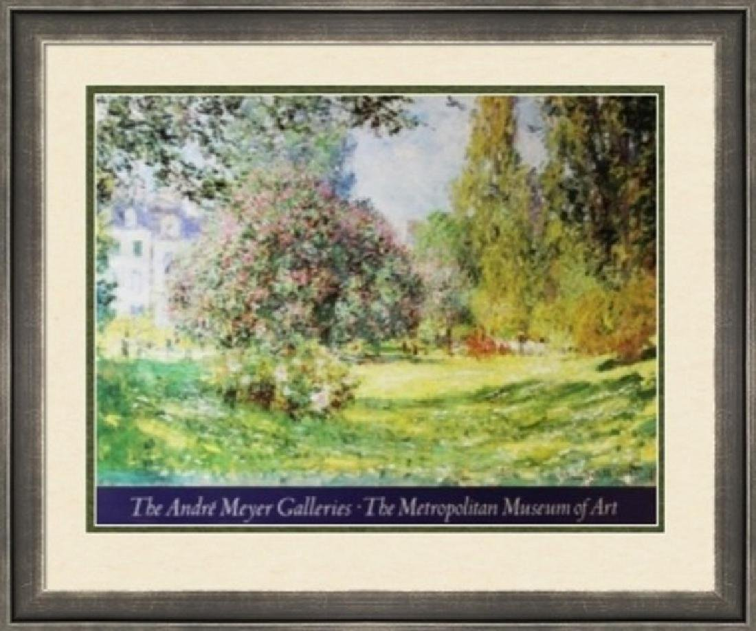 Signed Lithograph Claude Monet - The Parc Monceau