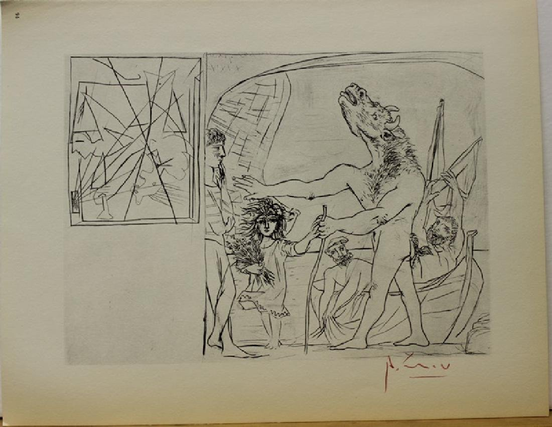 Signed Pablo Picasso Vollard Suite Lithograph - 2