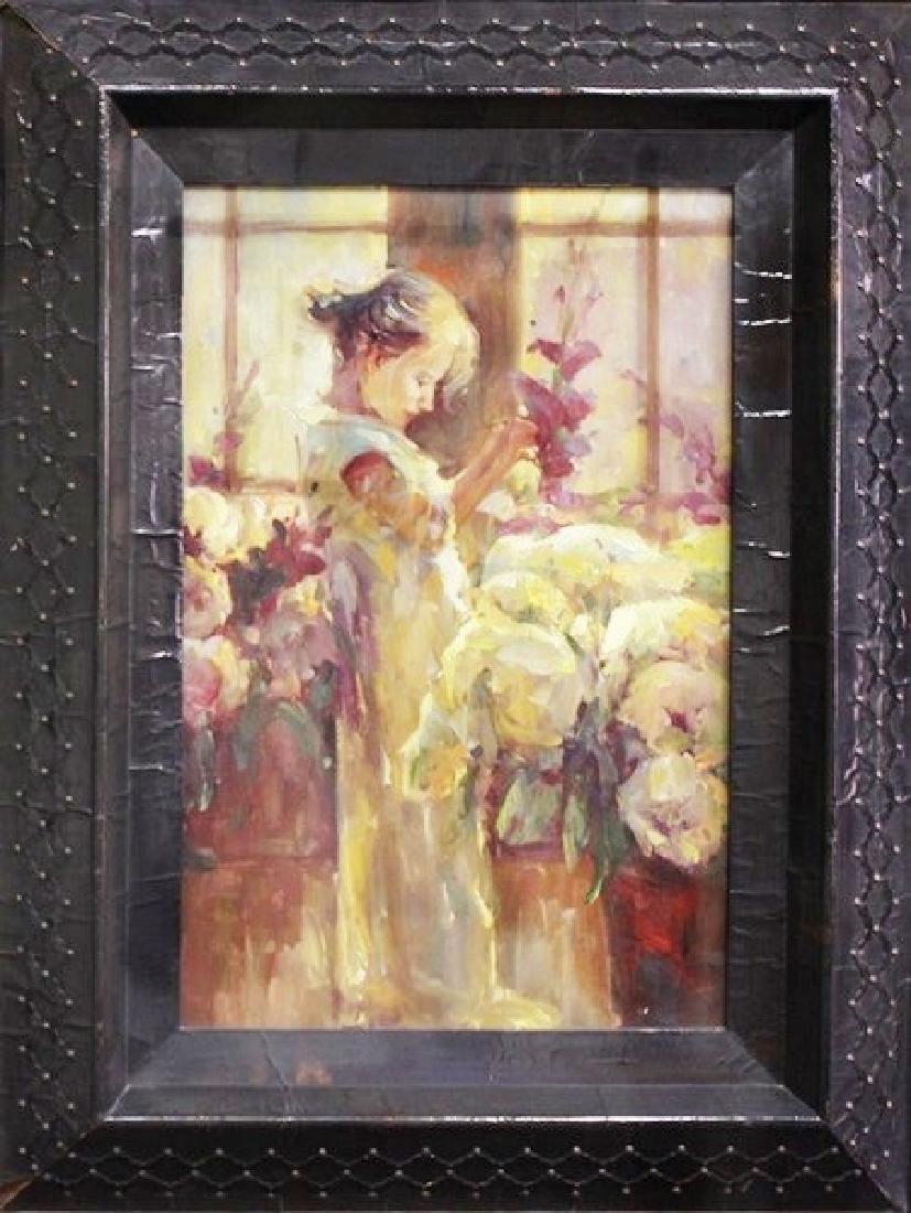 Flower Girl - Original Painting 52x40