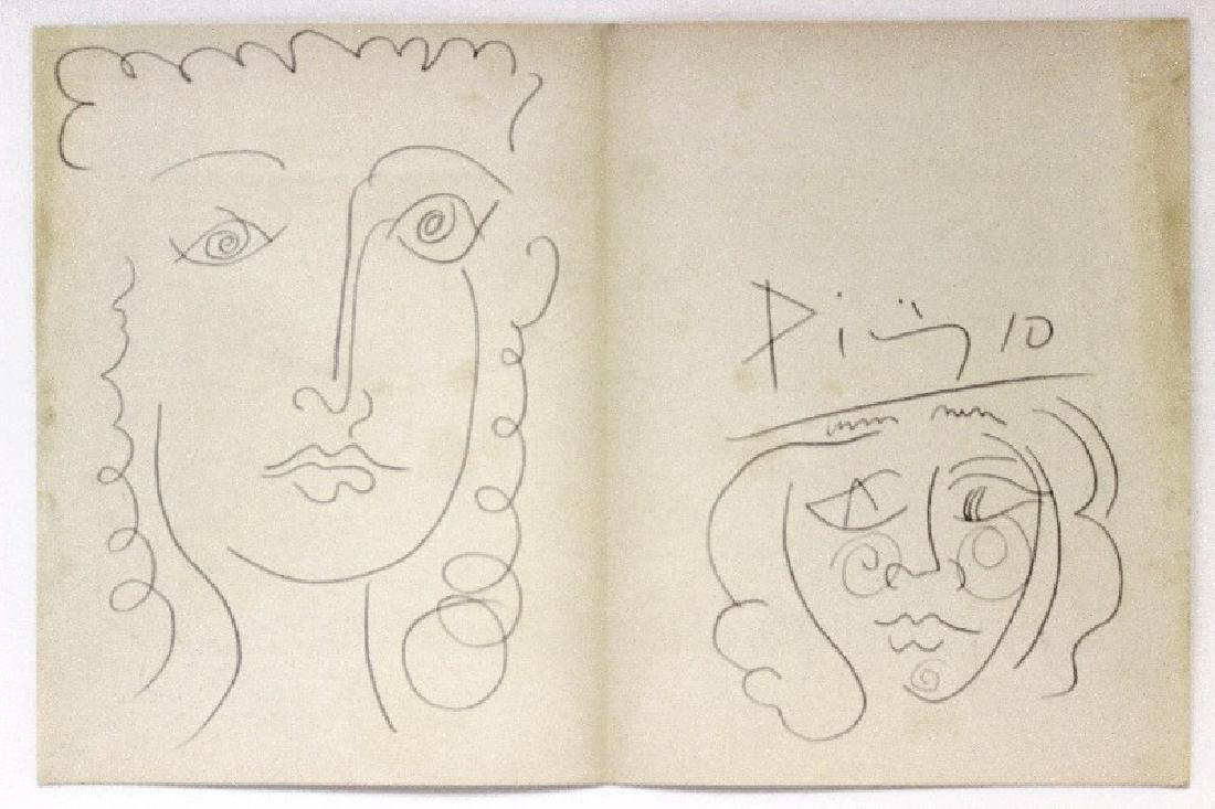 Original Picassso Hand Drawing on Paper