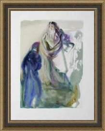 Salvador Dali Woodblock - St. Peter and Dante