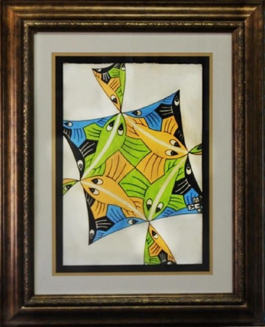 Flying Fish Study #2 - MC Escher