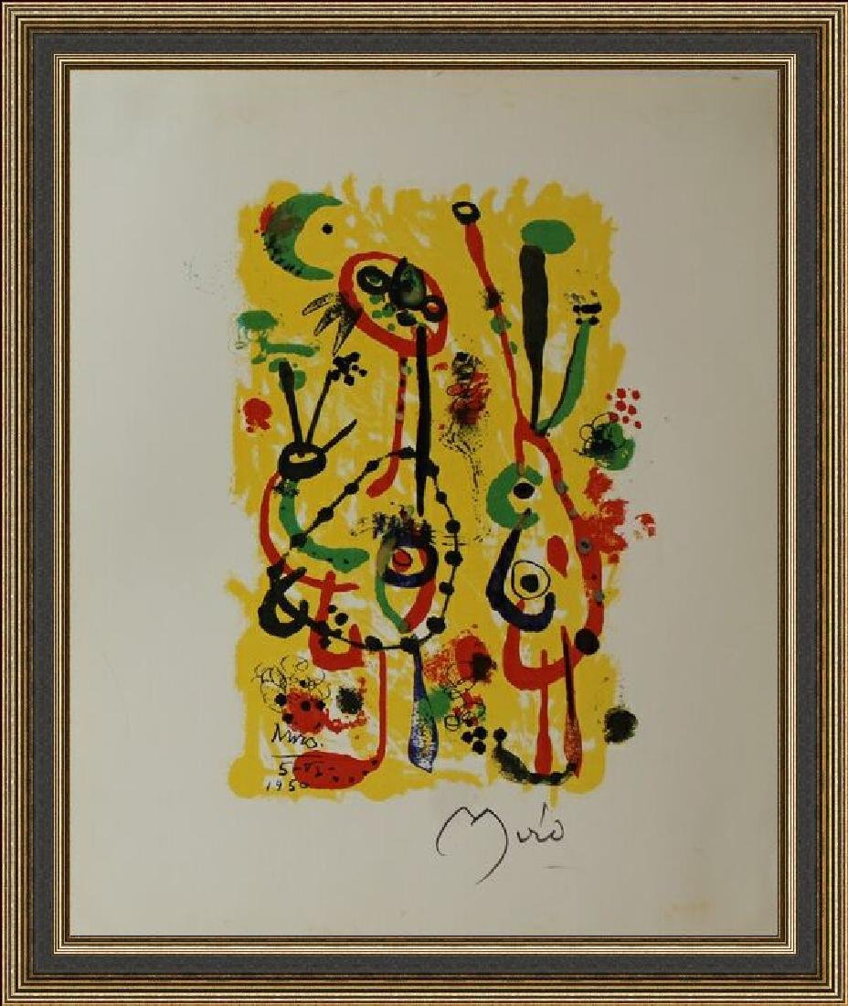 Rare Lithograph by Joan Miro