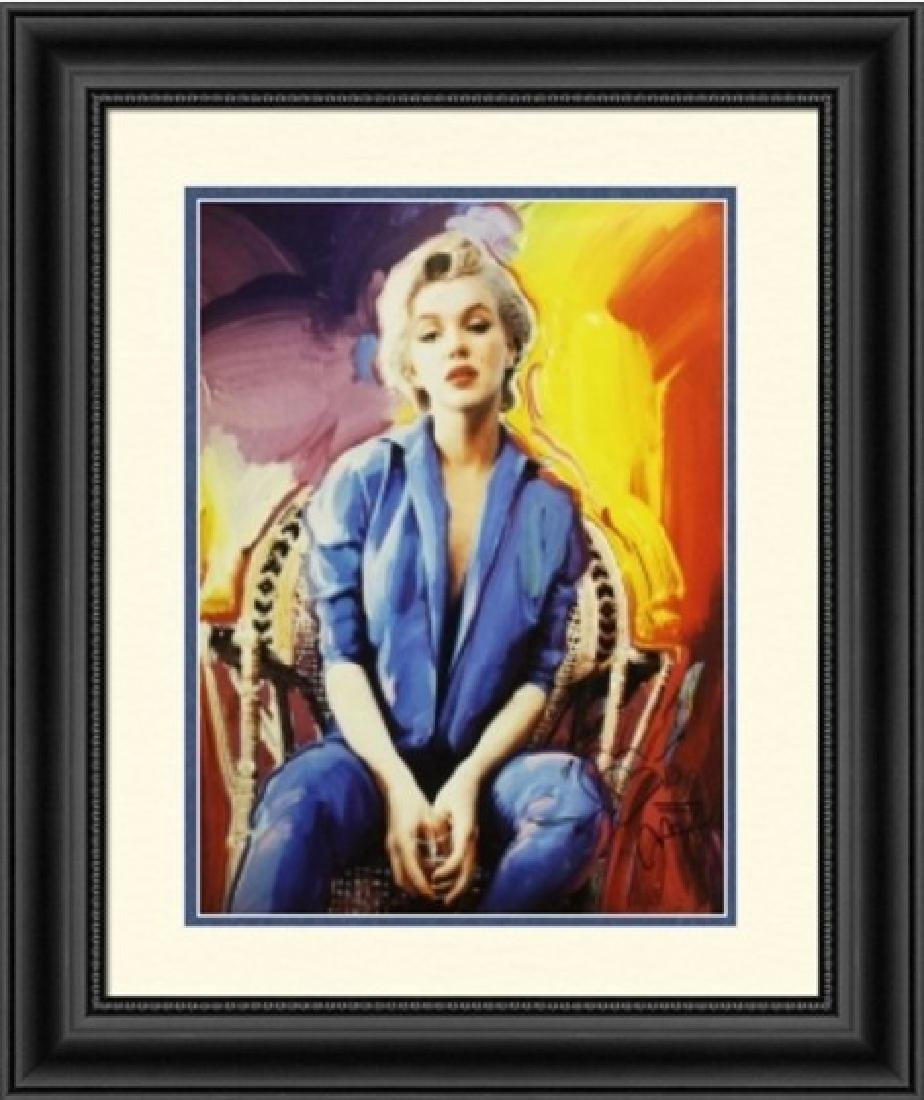Hand Signed Peter Max Mixed Media - Marilyn Monroe