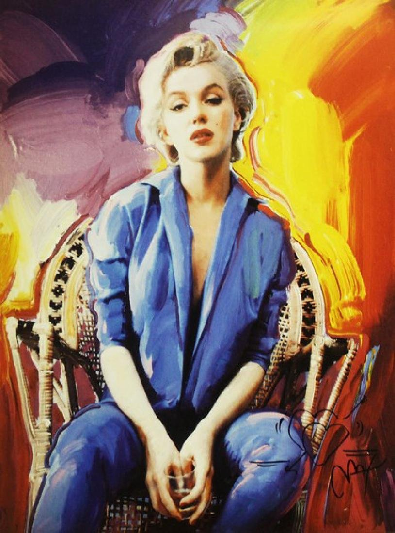 Hand Signed Peter Max Mixed Media - Marilyn Monroe - 2