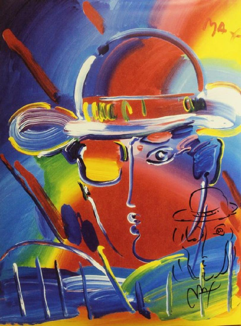 Hand Signed Peter Max Mixed Media - Man - 2