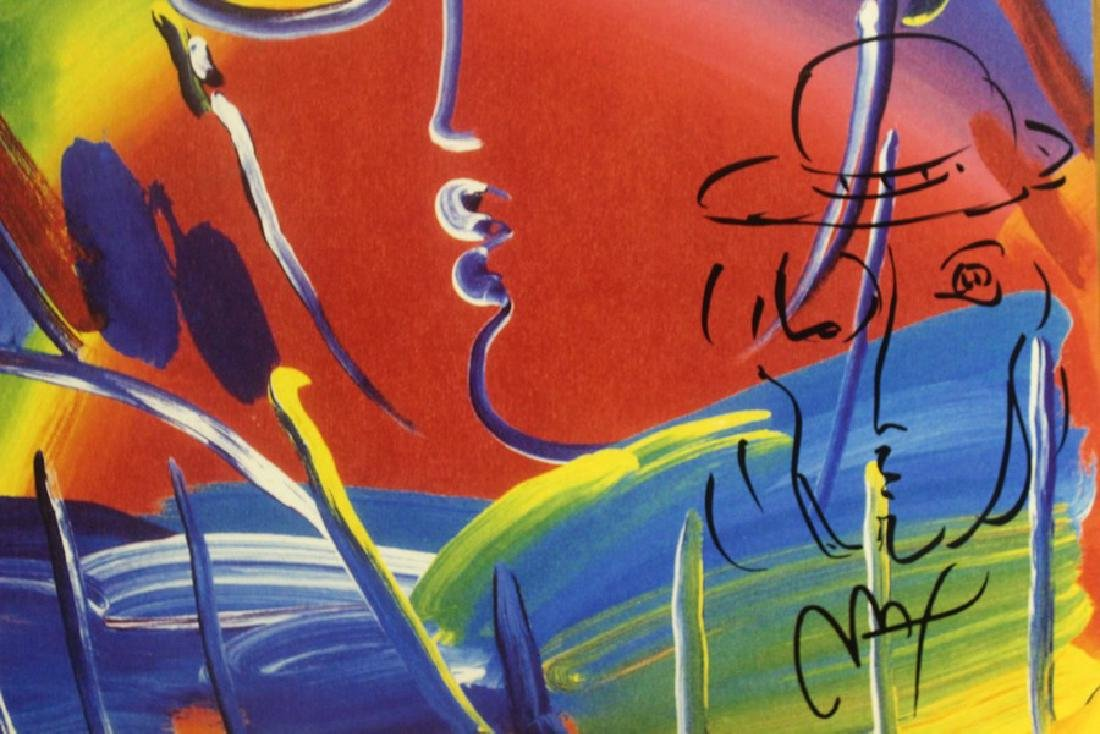 Hand Signed Peter Max Mixed Media - Man - 3