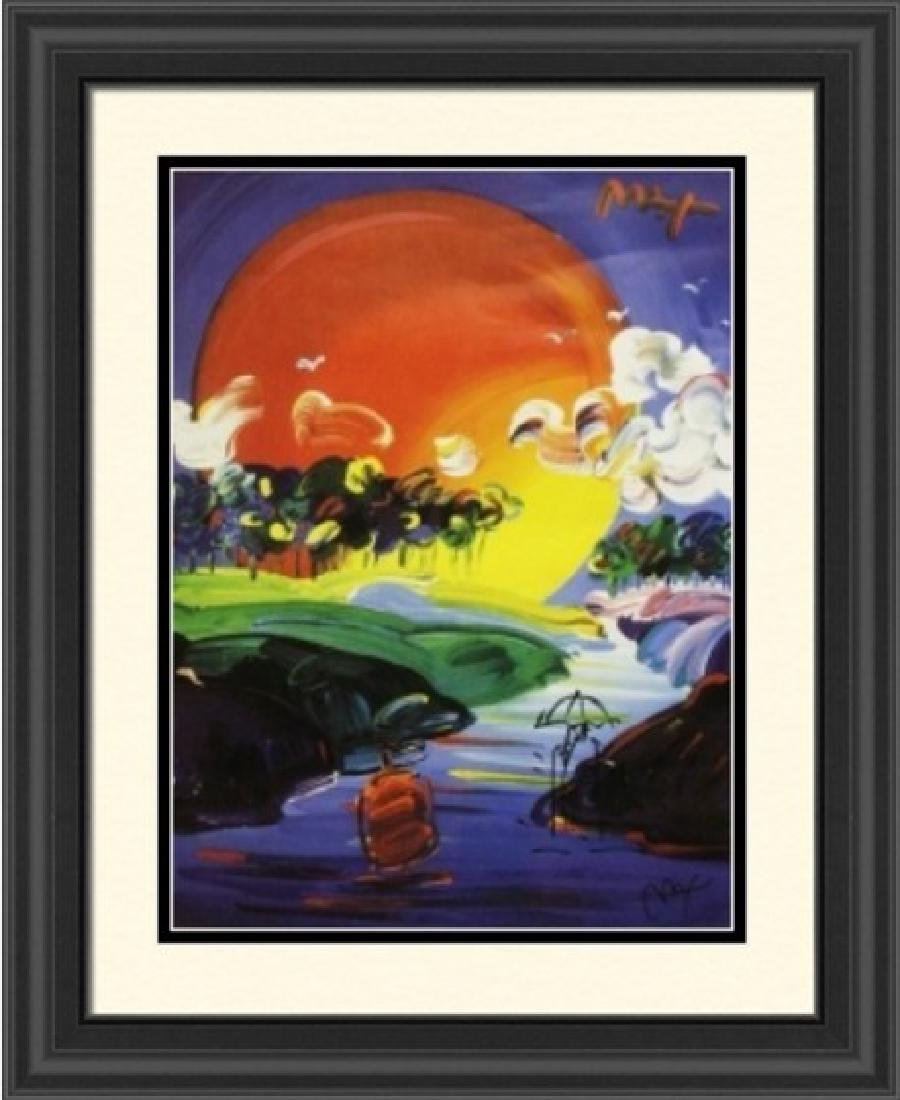 Hand Signed Peter Max Mixed Media - Without Borders