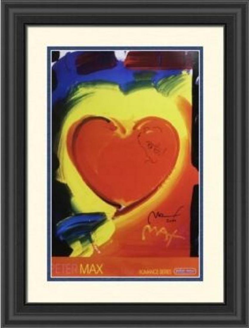 Hand Signed Peter Max Mixed Media - Valentine