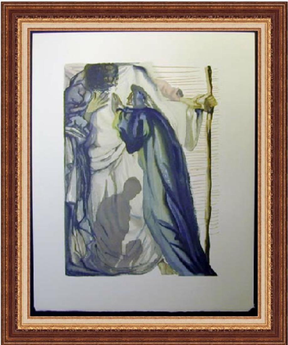 Salvador Dali Woodblock - The blind for envy