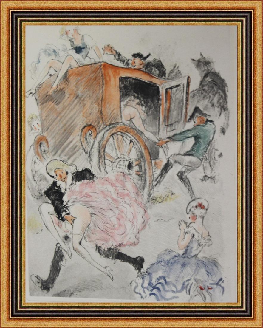 Original Etching Louis Icart - Carriage Fun