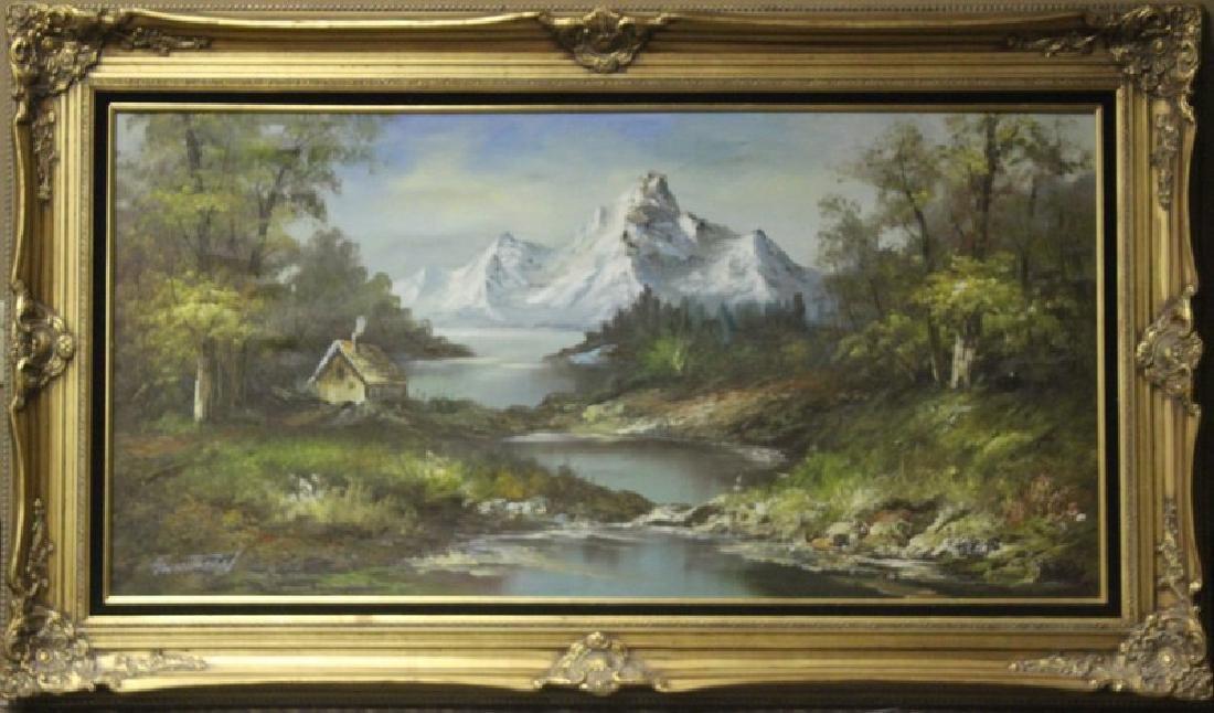 Icy Peaks - Original by Gwhitman 48 x 67
