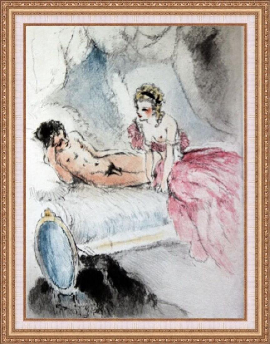 Original Etching Louis Icart - The Whole Package