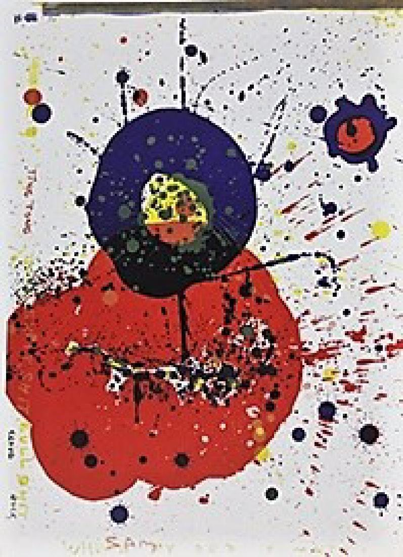 Original Signed Lithograph Sam Francis