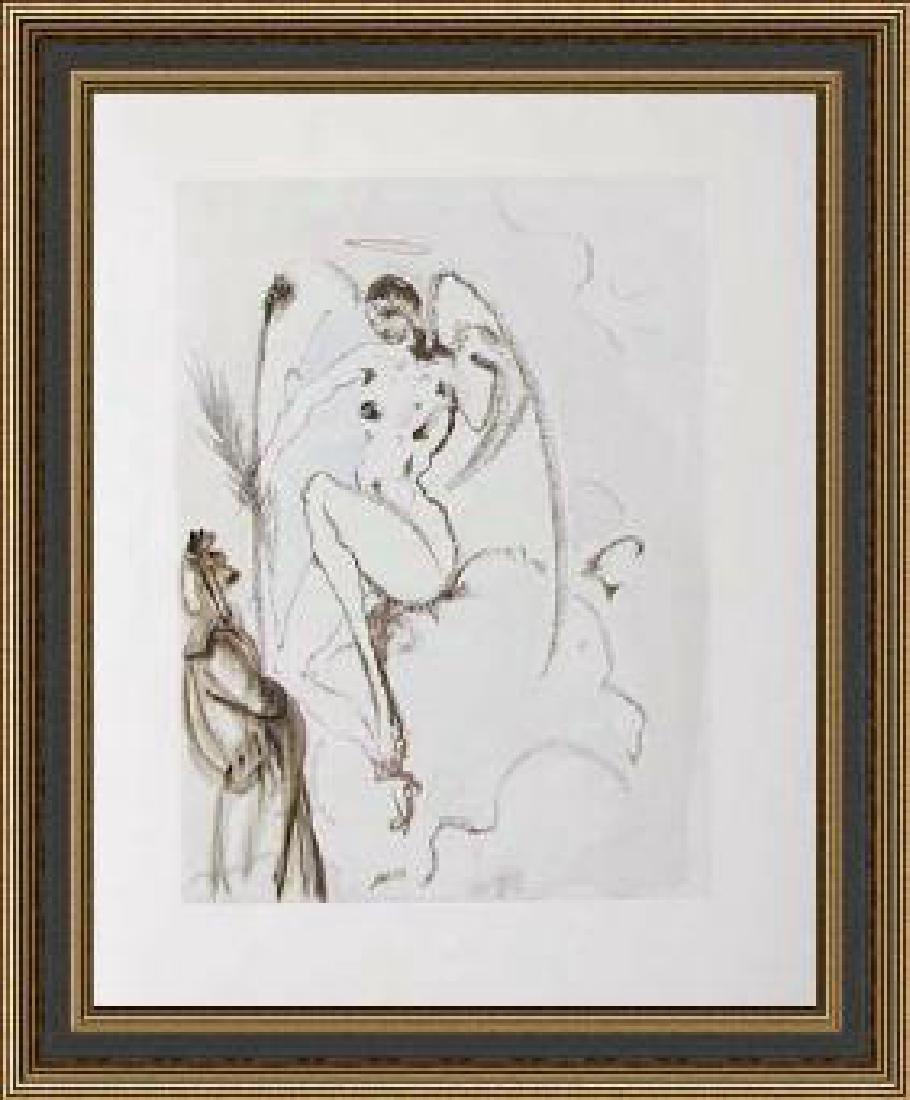 Salvador Dali Woodblock - The Archangel Gabriel