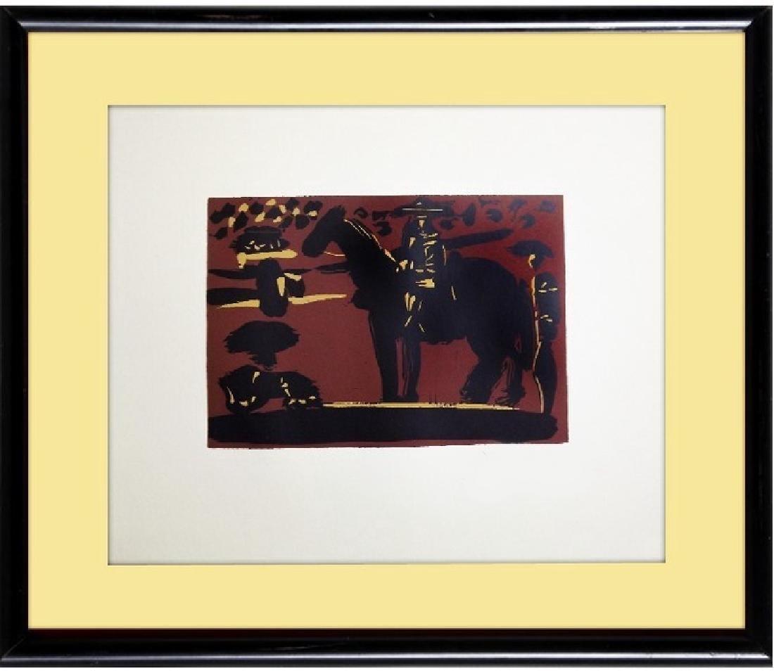 Signed Picasso Linocut Picador