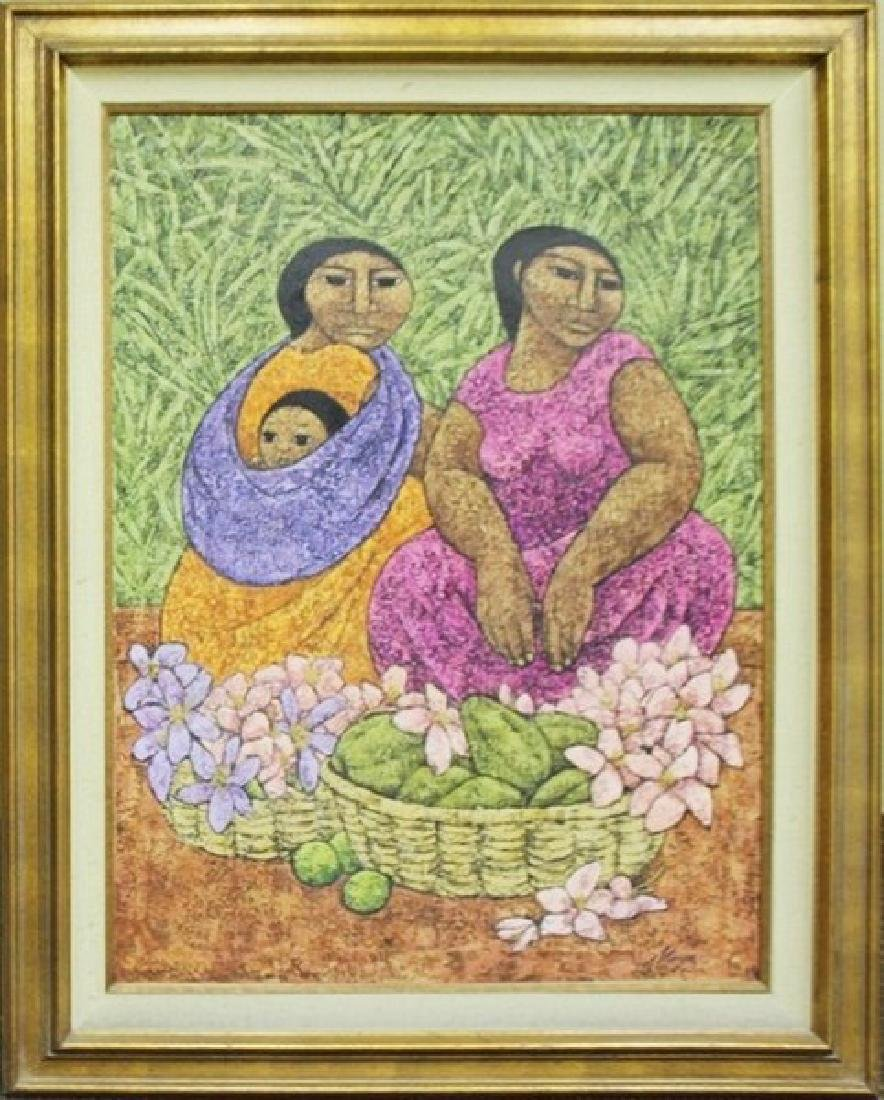 Woman With Child - Original Painting